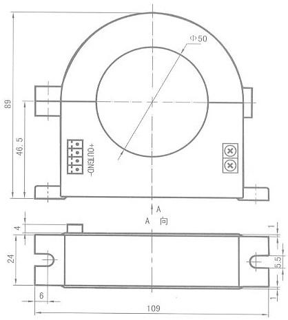 霍尔电流传感变送器(图);